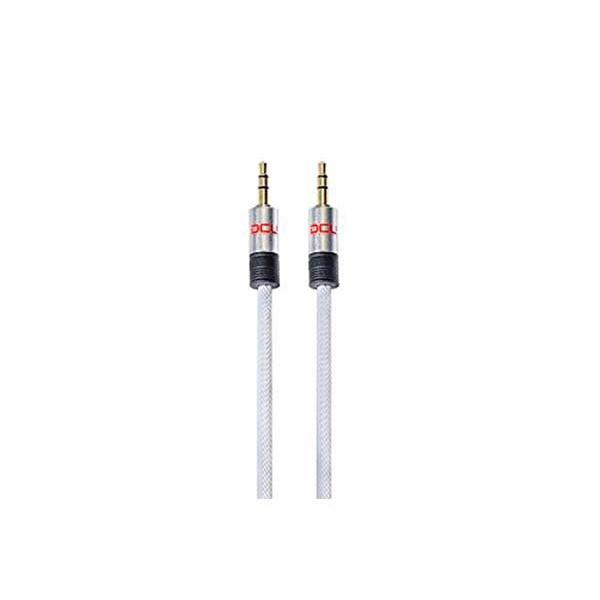 Dcu cable blanco jack 3.5 st macho a  jack 3.5 st macho 2 metros