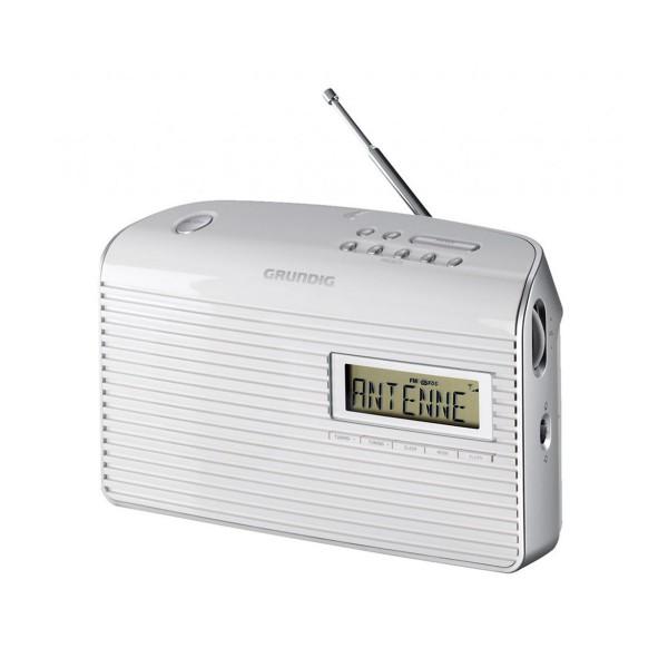 Grundig music 61 blanco radio de sobremesa fm con 10 presintonías y alarma