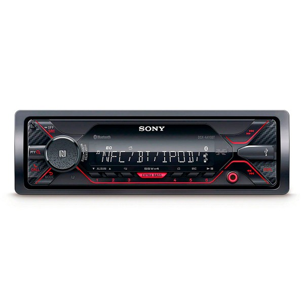 Sony cdx-g1300u receptor de cd para coche usb negro/rojo pantalla lcd amplificación 4 salidas de 55w extra bass