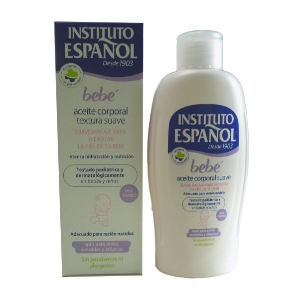 Instituto español bebe aceite corporal suave piel sensible sin alergenos 150ml