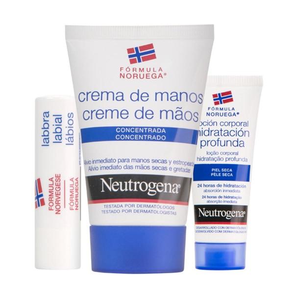 Neutrogena nordic berry crema de manos 75ml + body milk 250ml + labial 4 8gr bayas nordicas