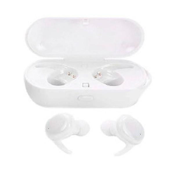 Lauson eh226 blanco auriculares inalámbricos in-ear bluetooth diseño minimalista y compacto con estuche de carga