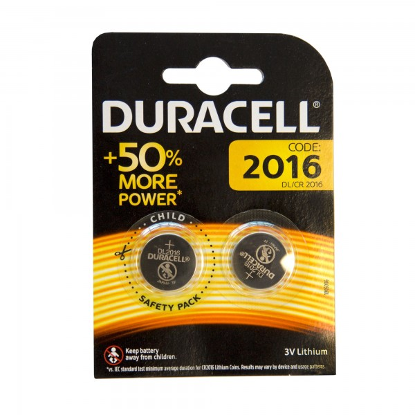 Pila duracell litio cr-2016 bl.2