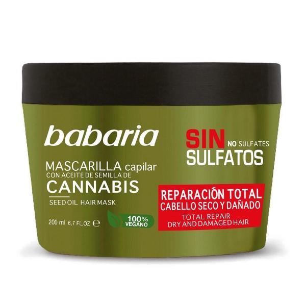 Babaria cannabis mascarilla sin sulfatos cabello seco y dañado 200ml