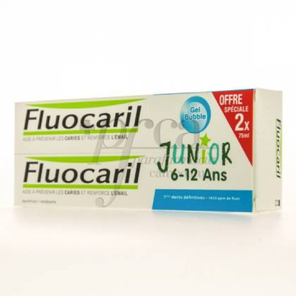FLUOCARIL JR GEL BUBBLE 2X75ML PROMO