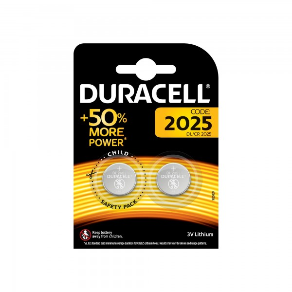 Pila duracell litio cr-2025 bl.2