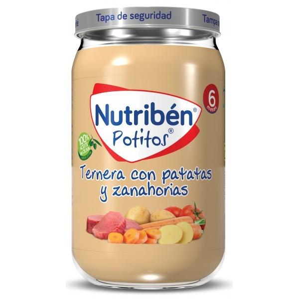 NUTRIBEN TERNERA PATATAS Y ZANAHORIAS 235 G